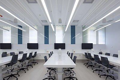 led batten strip lights application conference hall