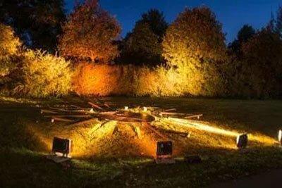 flood light application garden lighting