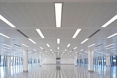led linear high bay application large office