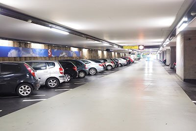 slim linear high bay application parking garage