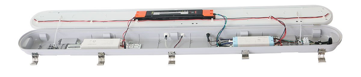 vapor-proof light fixture emergency battery backup