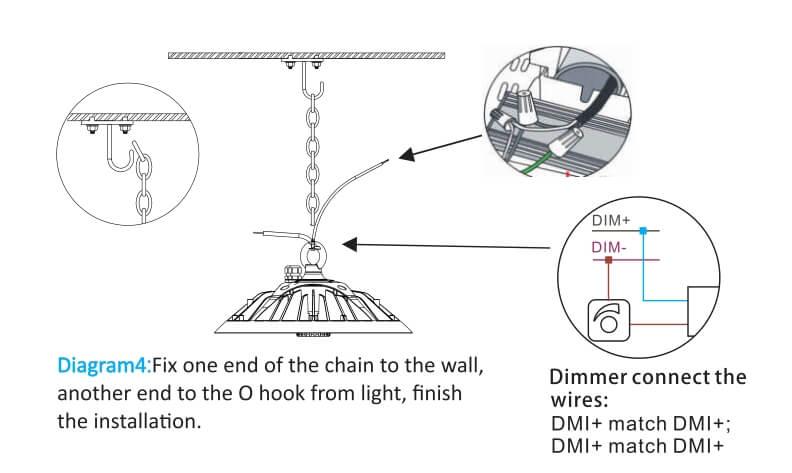 led ufo high bay installation O hook4