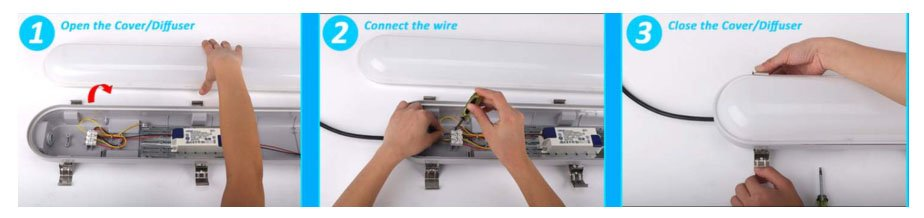 vapor-proof light fixture reform wiring