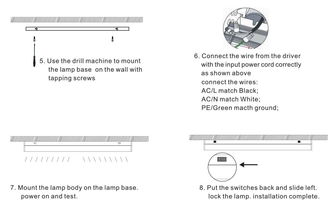 LED batten strip lights installation 2