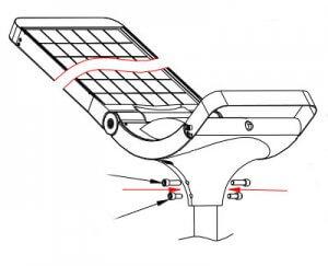 solar light pole installation 1