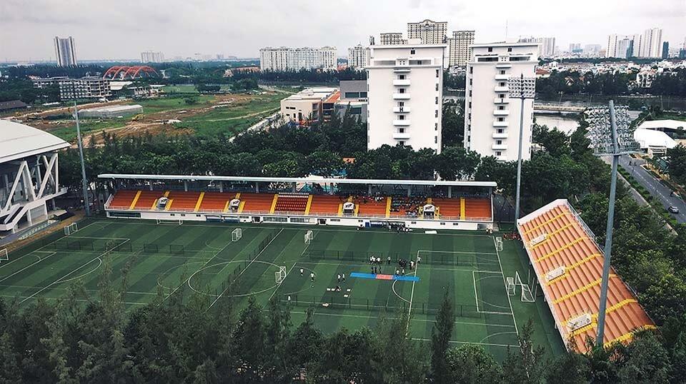 high school stadium