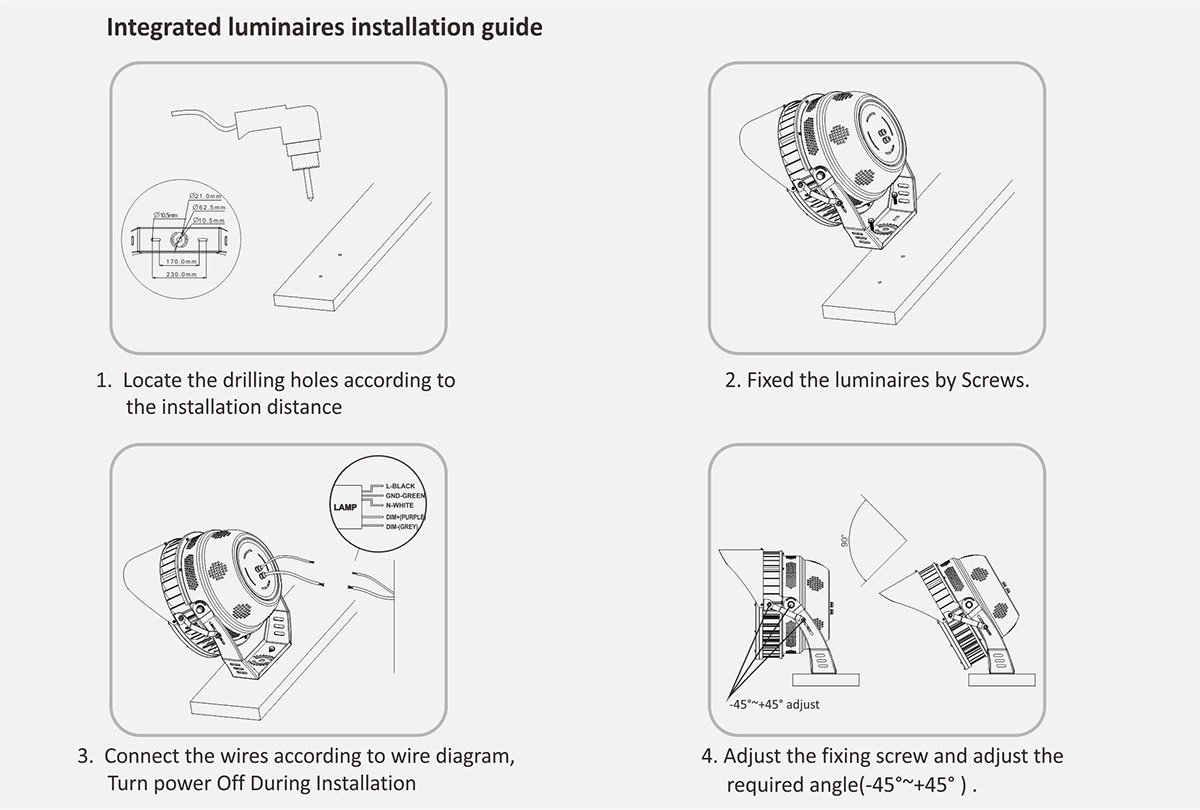 integrated luminaires installation guide