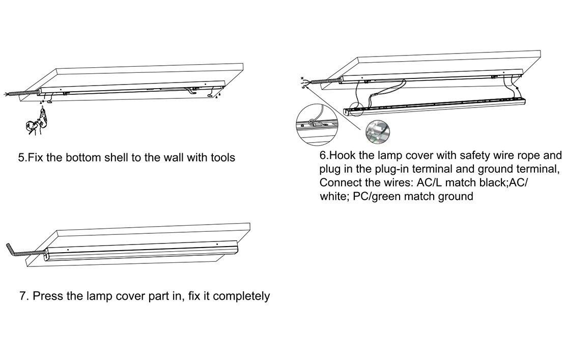 linear strip light Installation 4-1