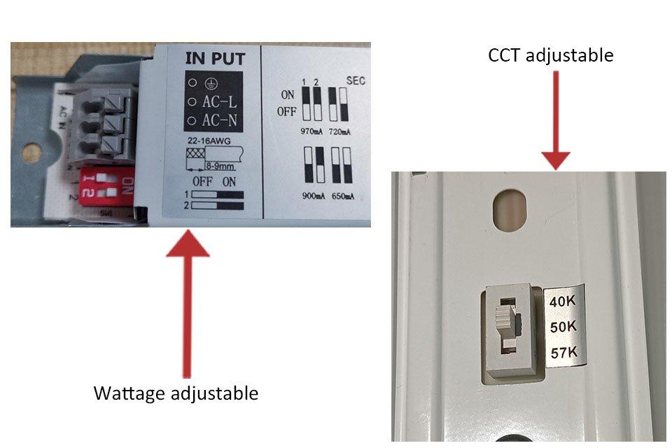 linear strip light adjust